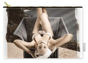 Sixties Classic Pin-up Beauty In Vintage Fashion Carry-all Pouch by Jorgo Photography - Wall Art Gallery