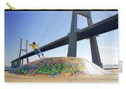 Skate Under Bridge Carry-all Pouch by Carlos Caetano