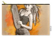 Skateboard Pin-up Illustration Carry-all Pouch