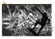 Skateboarder On Graffitti Carry-all Pouch