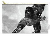 Skating Man-black Carry-all Pouch