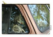 Skeleton Behind The Wheel Of Chevy Truck Carry-all Pouch