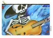 Skeleton Guitar Day Of The Dead  Carry-all Pouch