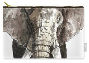Sketch Elephant Carry-all Pouch