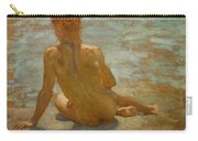 Sketch Of Nude Youth Study For Morning Spelendour Carry-all Pouch