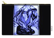 Sketch Of Statue In Blue Carry-all Pouch