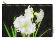 Sketchy White Amaryllis  Carry-all Pouch