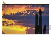 Skies Aglow In Arizona  Carry-all Pouch