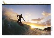 Skimboarding At Sunset I Carry-all Pouch