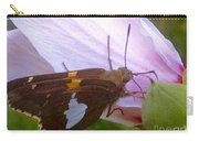 Skipper Butterfly With White And Orange Colors Carry-all Pouch