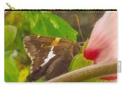 Skipper Trying To Hide Behind A Flower Carry-all Pouch