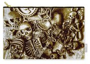 Skull And Cross Bone Treasure Carry-all Pouch