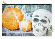 Skull And Pumpkin Carry-all Pouch