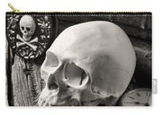 Skull And Skeleton Key Carry-all Pouch by Garry Gay