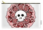 Skull Mandala Pink Carry-all Pouch