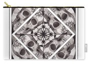Skull Mandala Series Number Two Carry-all Pouch by Deadcharming Art