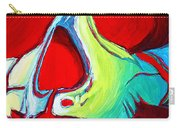 Skull Original Madart Painting Carry-all Pouch