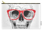 Skull With Red Glasses Carry-all Pouch