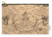 Skulls In Grunge Style Carry-all Pouch