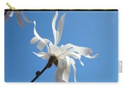Sky Blue Art Prints White Magnolia Flower Spring Baslee Troutman Carry-all Pouch