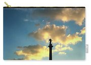 Sky Clouds And Statue In Stuttgart Germany Carry-all Pouch