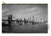 Skyline And The Brooklyn Bridge Carry-all Pouch