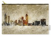 skyline of Atlanta in modern and abstract vintage-look Carry-all Pouch