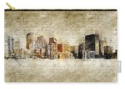skyline of Denver in modern and abstract vintage-look Carry-all Pouch