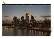 Skyline Of Frankfurt City In Twilight Carry-all Pouch