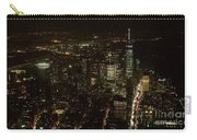 Skyline Of New York City - Lower Manhattan Night Aerial Carry-all Pouch
