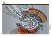 skyline of Uptown charlotte mini planet in winter Carry-all Pouch