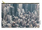 Skyscrapers View From Above Building 83641 3840x1200 Carry-all Pouch
