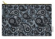 Slate Gray Paisley Design Carry-all Pouch