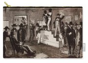Slave Auction In Virginia Carry-all Pouch by Photo Researchers