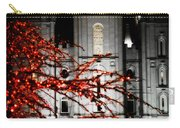 Slc Temple Red White N Black Carry-all Pouch by La Rae  Roberts