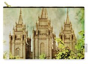 Slc Vintage Green Carry-all Pouch by La Rae  Roberts