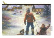 Sledding To The Village Carry-all Pouch