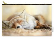 Sleeping Beauty -red Fox In Rest Carry-all Pouch