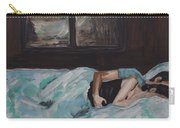 Sleeping In Carry-all Pouch by Leslie Allen