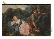 Sleeping Maiden In A Woodland Landscape Carry-all Pouch