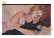 Sleeping With Fur Carry-all Pouch