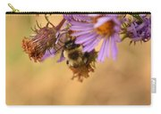 Sleepy Bee On New England Aster Vertical Carry-all Pouch