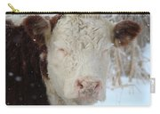 Sleepy Winter Cow Carry-all Pouch