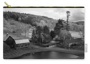 Sleepy Hollows Farm Woodstock Vermont Vt Pond Black And White Carry-all Pouch