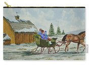 Sleigh Ride Carry-all Pouch by Charlotte Blanchard
