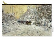 Sleigh Ride In Central Park Carry-all Pouch by Childe Hassam