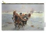Sleighs In A Winter Landscape Carry-all Pouch