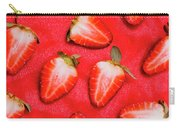 Sliced Red Strawberry Background Carry-all Pouch