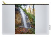 Slick Rock Falls, A North Carolina Waterfall In Autumn Carry-all Pouch
