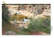 Slide Rock With Pink Wildflowers Carry-all Pouch